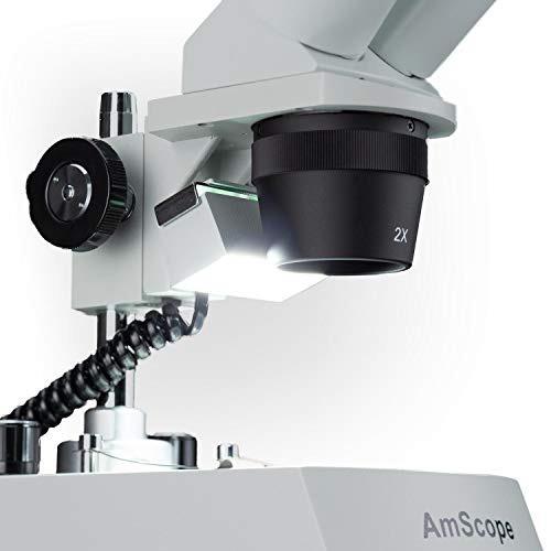 microscopio estereoscopico binocular montado hacia adelante