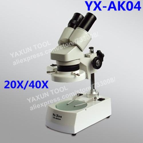 6dfa2952d0bb3 Microscópio Estereoscópico Binocular Yaxun Ak04 220v - R  949