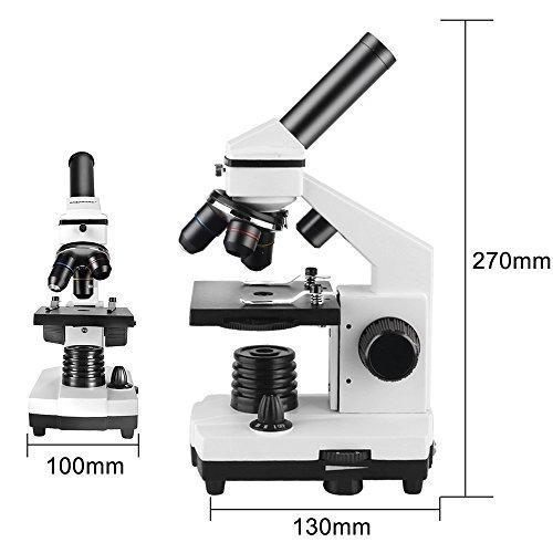 1000x Ampliaci/ón Solomark Microscopio 40x con Adaptador Digiscoping para Smartphone Estudiante biol/ógico Compuesto microscopio