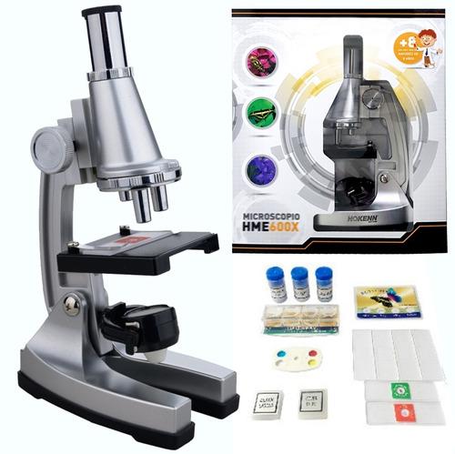 microscopio hokenn 600x zoom luz accesorios visor niños