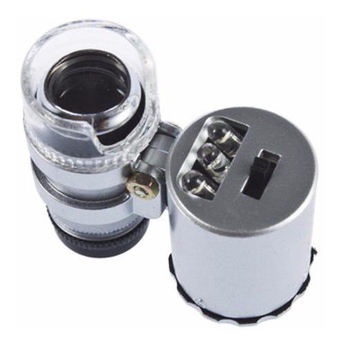 microscopio mini 60x con luz led y uv joyero billete falso