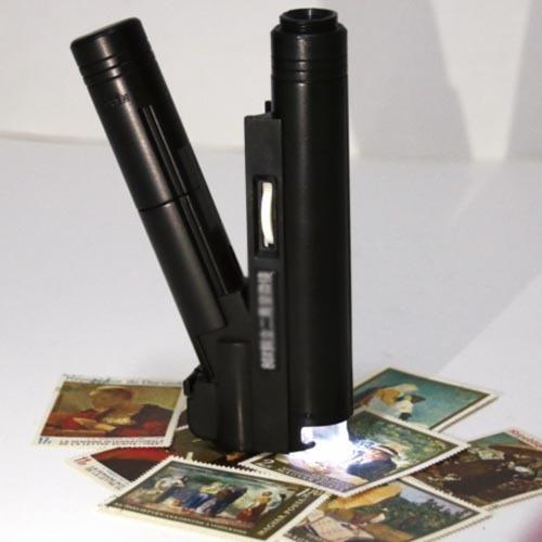 microscopio para celular compacto 100x con luz led obi