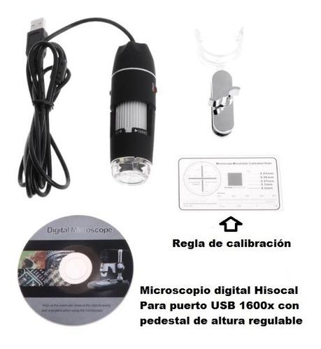 microscopio profesional hisocal 1600x para usb