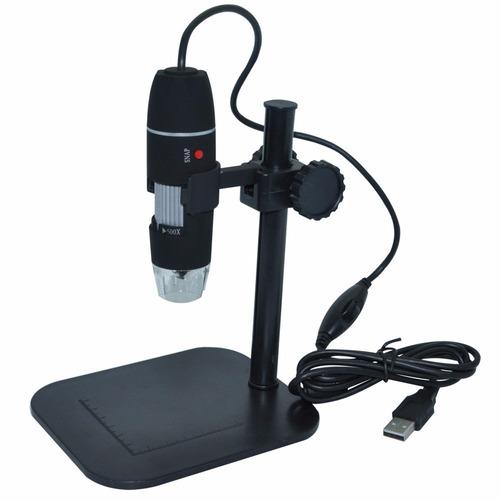 microscopio usb 500x incluye base cuenta con luz led