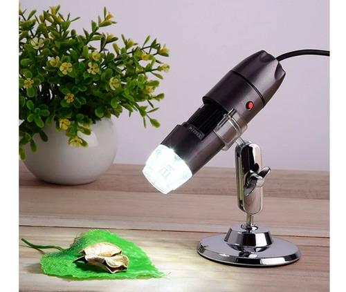 microscopio usb digital 1000x luz foto video