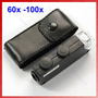 Microscopio De Bolsillo Con Luz Led 60x A 100x