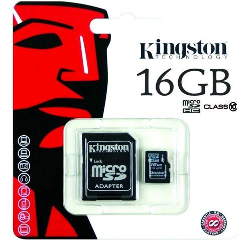 microsd 16gb clase 10 45mb/s kingston