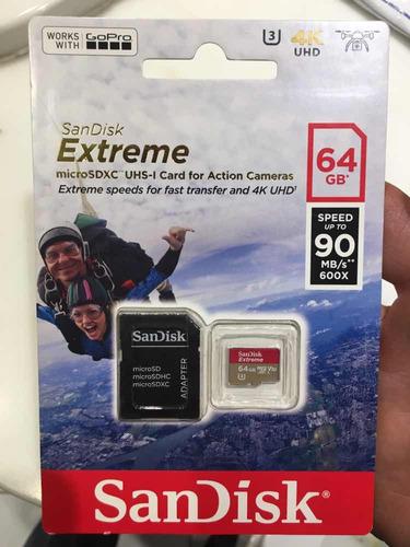 microsd 64gb sandisk extreme 4k ultra gopro clase 10