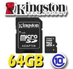 microsd kingston canvas select 64gb clase 10 80 mb/s envio