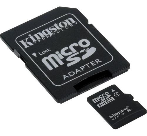 microsd p/ celular kingston 8gb c4 blister original gtia