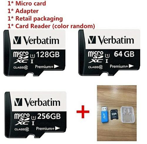 microsd verbatim 256gb tarjeta de  memoria  premium clase 10