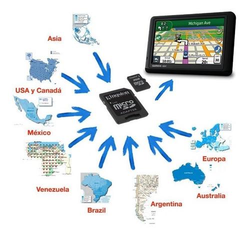 microsd y sd 4gb con mapas garmin 2019 + 100% ruteables
