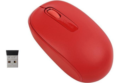 microsoft 1850 mouse inalambrico flame red u7z-00031