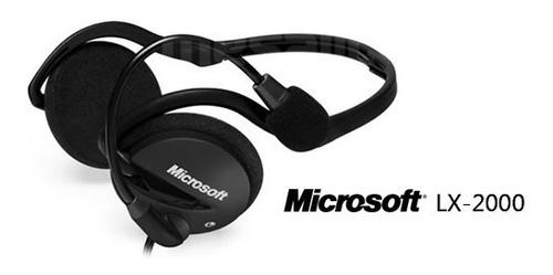 microsoft lifechat lx-2000 headset. audifono stereo plegable