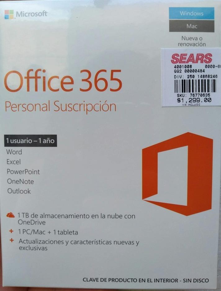 5d0721abf Microsoft Office 365 1 Tb Onedrive (oferta) -   999.00 en Mercado Libre