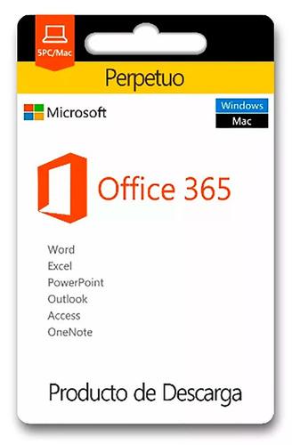 microsoft office 365 para 5 pc's mac's o tablets, oferta
