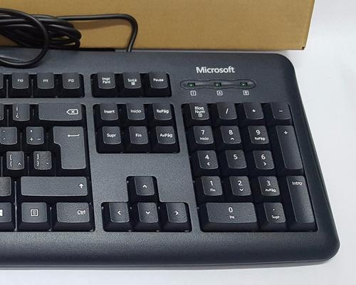 microsoft teclado keyboard wired 200 caja ecologica