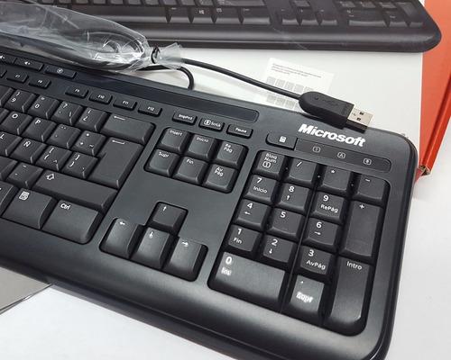 microsoft teclado keyboard wired 600