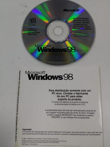 microsoft windows 98 original sistema operacional