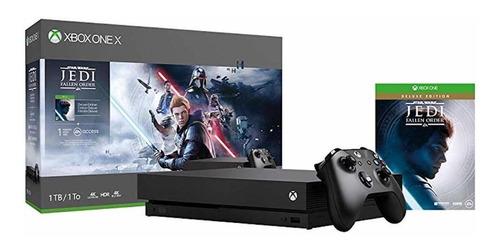 microsoft xbox one x 1tb star wars jedi: fallen order deluxe edition preto