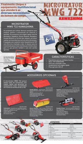 microtrator motocultivador tobata 7hp com carreta agrícola