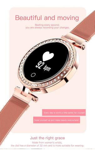 microwear x10 mulheres relógio inteligente tela oled de 0,66