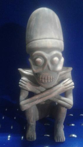 mictlantecuhtli artesania en barro prehispanico