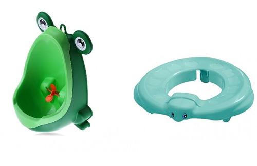 mictorio infantil sapinho + 1 redutor de assento verde