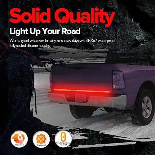 mictuning 60 pulgadas de 2 filas led camión portón luz bar
