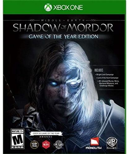 middle earth: shadow of mordor juego del año - xbox one