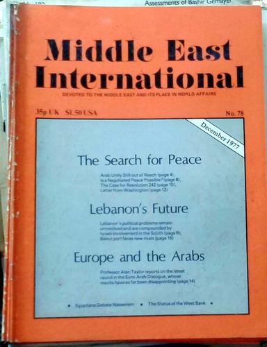 middle east international - dec 1977 n°78 london 34p buen es