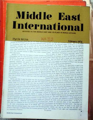 middle east international - feb 1974 n°32 london 26p buen es