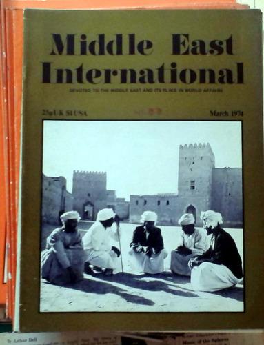 middle east international - march 1974 n°33 london 34p buen