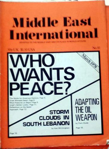 middle east international - march 1978 n°81 london 34p buen