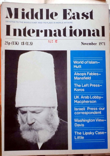 middle east international - nov 1971 n°8 london 48p buen est