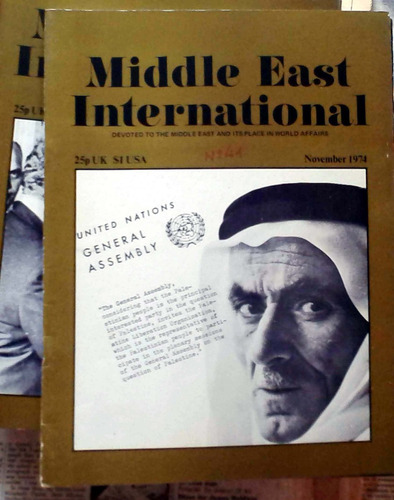 middle east international - nov 1974 n°41 london 34p buen es