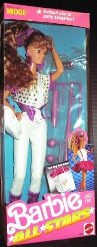 midge barbie y las all stars - 1989