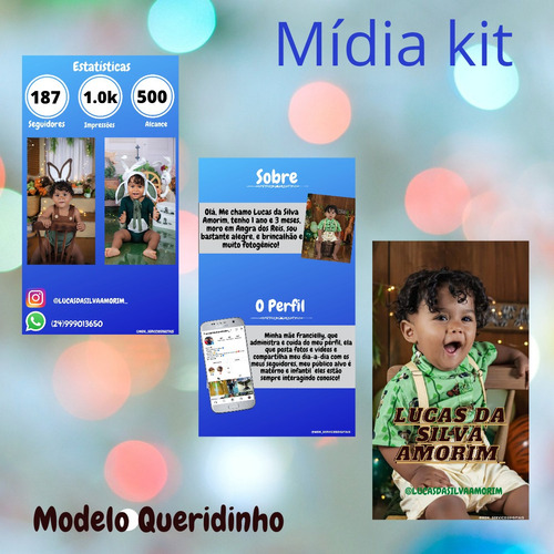 mídia kit profissional