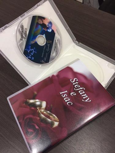 midia(4,7gb)/cd + impressao+box plastico+encarte fotográfico
