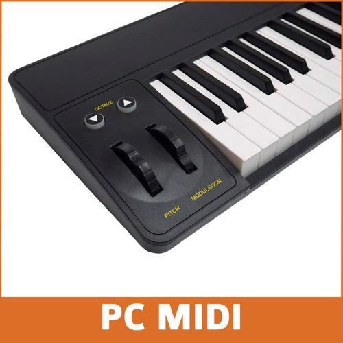 midiplus ak490 teclado controlador midi 49 teclas sensitivo