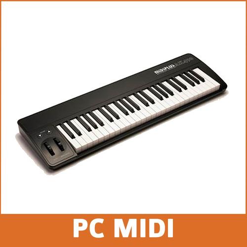 midiplus ak490 teclado midi 49 teclas sensitivo + software