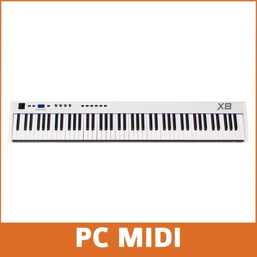 midiplus x8 teclado midi 88 teclas semipesadas
