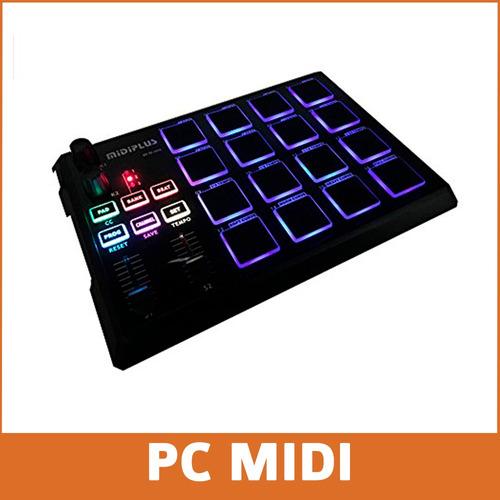 midiplus xpad controlador midi usb ideal beats baterias