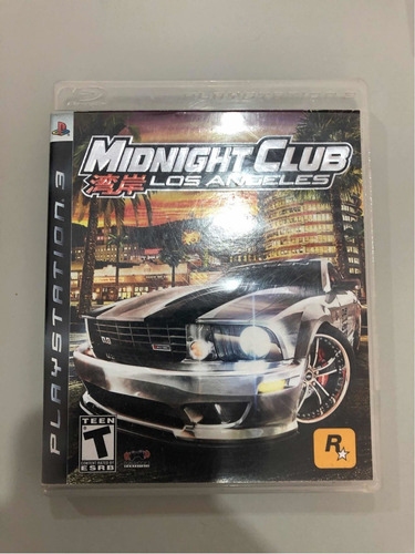 midnight club los angeles, película ps3 original física