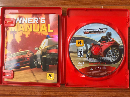 midnight club los ángeles ps3 físico
