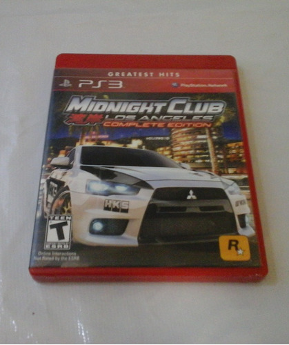 midnight club  los angeles ps3 mídia física