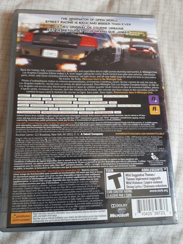 midnight club los angeles xbox 360 barato