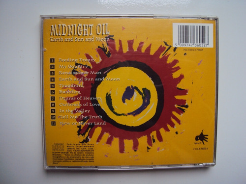 midnight oil - earth and sun and moon