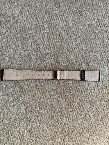 mido,pulseira para relogio.ouro plaque,en couro lezard,19 mm