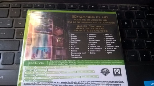 midway arcade origins nuevo sellado xbox 360